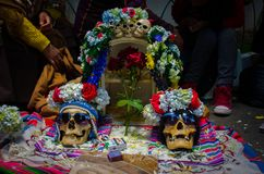 Pair of skulls in ballot box royalty free stock images