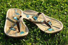 Pair of slippers Royalty Free Stock Images