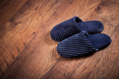 Pair of slippers on the floor Royalty Free Stock Photography