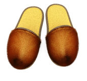 Pair of slippers Royalty Free Stock Image