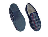 A Pair Of Carpet Slippers - Old Worn Shoes Stock Photo