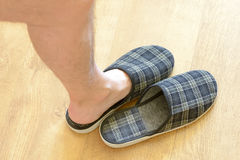 Pair of Slippers Stock Photos
