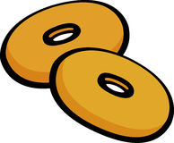 pair of small donuts vector illustration Royalty Free Stock Images