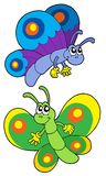 Pair of smiling butterflies. Vector illustration Royalty Free Stock Photos