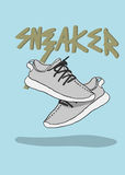 A pair of sneaker sport shoes sneaker illustration trendy Royalty Free Stock Photography