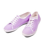 Pair of sneakers. On white background royalty free stock photography
