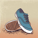 Pair of sneakers. Vector Illustration Stock Photos