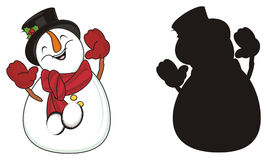 Pair of snowmans Stock Images