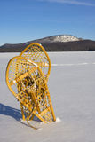 Pair of Snowshoes in the Snow Stock Photography