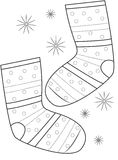 Pair of socks coloring page Royalty Free Stock Photos