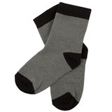 Pair of socks. Isolated on white. Clipping paths included. Stock Photos