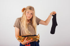 Pair of socks is not a good present Royalty Free Stock Photo