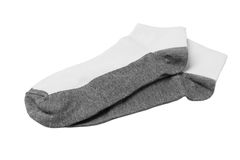 A Pair of Socks. Pair Of Short Ankle Socks On White Background Royalty Free Stock Images