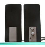 Pair of speakers Stock Photo