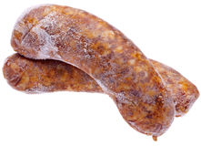 Pair of Spicy Frozen Sausages Royalty Free Stock Photos