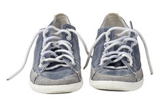 Pair of sport shoe with clipping path Stock Images