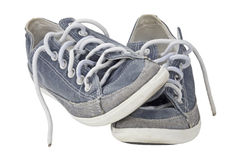 Pair of sport shoe slant with clipping path Stock Photos