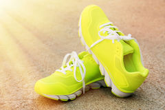 Pair of sport shoes Stock Images