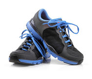 Pair of sport trainers isolated on white. Background Royalty Free Stock Photos