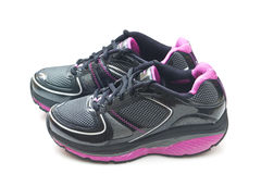 Pair of sports shoes. It is a pair of shoes royalty free stock photo