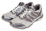 Pair of sports shoes Stock Images