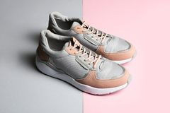 Pair of sports shoes royalty free stock photos