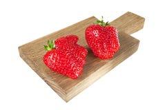 Pair of strawberries Royalty Free Stock Photos