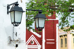 Pair of Street Lights Stock Image