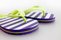 Pair of  striped flip flop Stock Photo