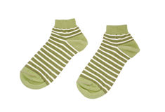Pair of striped socks Royalty Free Stock Photography