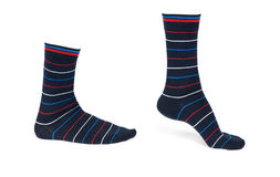 Pair of striped socks Stock Photography