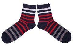 Pair of striped socks Stock Photo