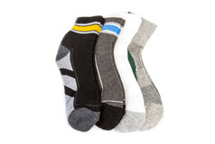 A pair of striped socks. On a white background Stock Photo