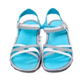 Pair of summer sandals. Front view. Royalty Free Stock Images