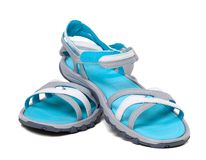 Pair of summer sandals Royalty Free Stock Image