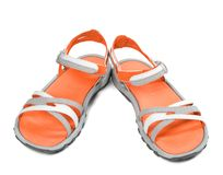 Pair of summer sandals Royalty Free Stock Photo