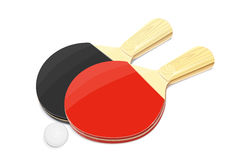 Pair of Table tennis racket and ball Stock Photography
