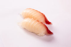 Pair of Tai (Seabream) Sushi Stock Photo