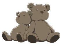 Pair of teddy bears Royalty Free Stock Photo