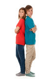 Pair of teenagers Royalty Free Stock Photography