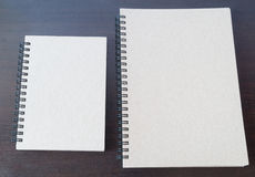 A pair of textbook brown paper Royalty Free Stock Photography