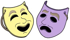 Pair of theatre masks Royalty Free Stock Photography