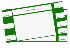 Pair of Tickets Royalty Free Stock Photography