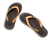 Pair of toe post sandal. On white background Stock Photography