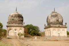 Premamati and Taramati tombs, Hyderabad. Pair of tombs housing the graves of Premamati and Taramati, favorite courtesans of Sultan Abdullah Shah.  Part of the Stock Photos