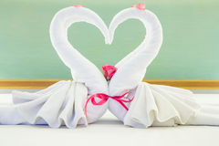 Pair of towel Stock Images