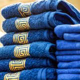 A pair of towels as a gift royalty free stock images