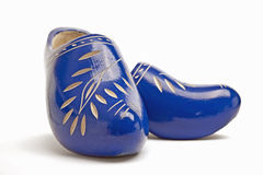 Pair of traditional dutch wooden shoes Royalty Free Stock Photo