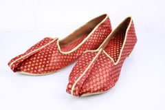 Pair of traditional Indian shoes. Royalty Free Stock Image