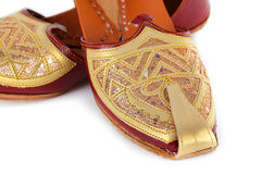 Pair of traditional Indian shoes Stock Photos